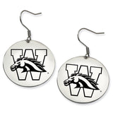 Western Michigan Broncos Stainless Steel Disc Earrings