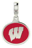 Wisconsin Badgers Enamel Drop Charm Fits All European Style Bracelets