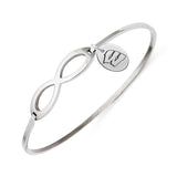 Wisconsin Badgers Infinity Bangle Bracelet with Free Shipping