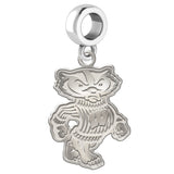 Wisconsin Badgers Natural Finish Logo Dangle Charm