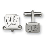 Wisconsin Badgers Stainless Steel Cufflinks