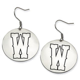 Wyoming Cowboys Stainless Steel Disc Earrings