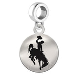 Wyoming Cowboys Round Drop Charm
