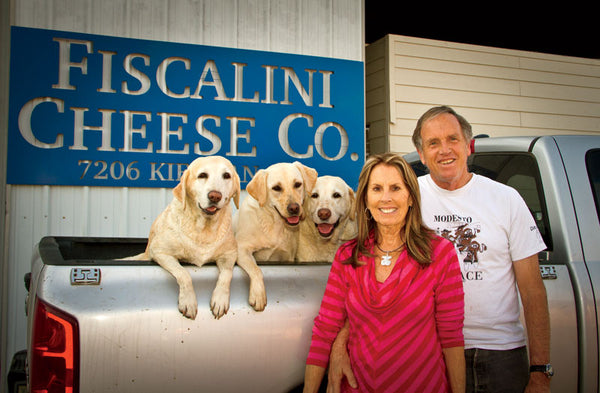 John with wife, Heather, and the four-legged members of the Fiscalini family.