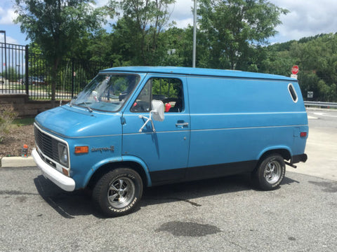 Blue Chevy Van