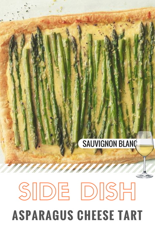 Side dish - Asparagus cheese tart.