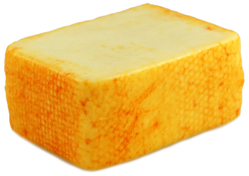 A Block of American Muenster Cheese