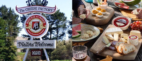 The Sign As You Arrive On Site - More Products From Marin French Cheese Company