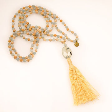 Rudrani Mala with amazonite - Bali Malas