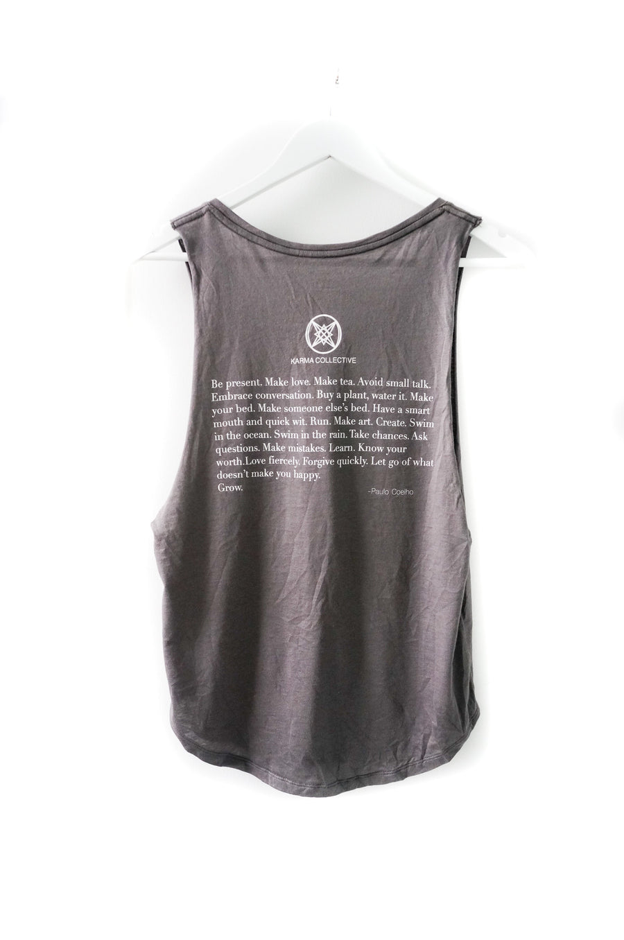 Happy. Muscle Tank Grey