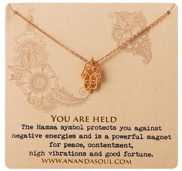 You Are Held necklace by Ananda Soul - Bali Malas