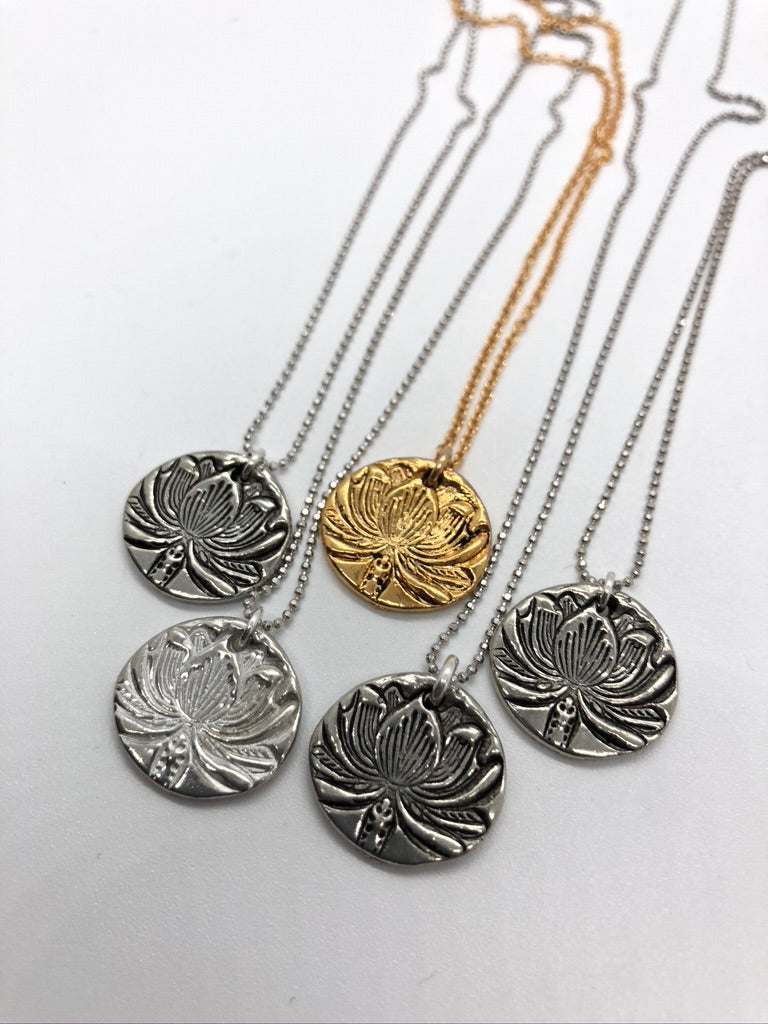 Lotus Necklace by Mas Designs