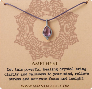 Amethyst necklace by Ananda Soul - Bali Malas
