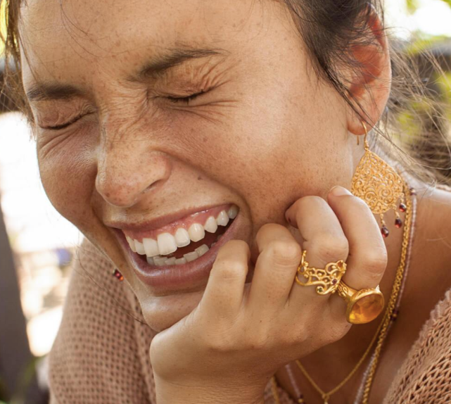 Follow your Bliss Ring (gold) by Ananda Soul - Bali Malas