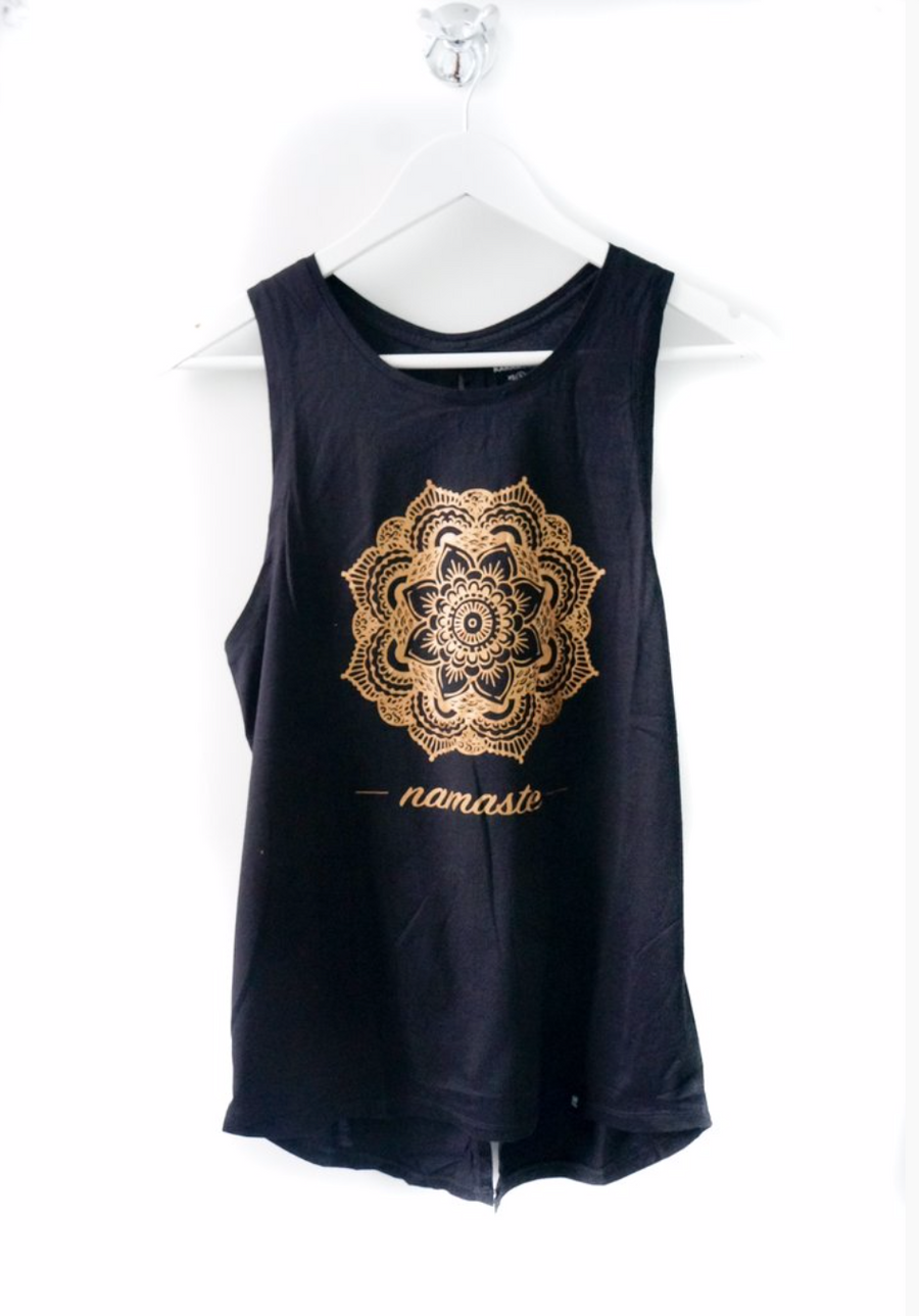 Mandala Flower Tie Up Tank by Karma Collective
