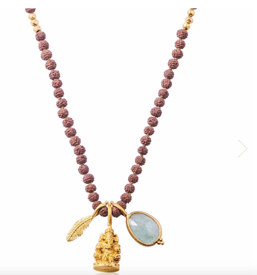 Ease and Flow Rudraksha Necklace by Ananda Soul