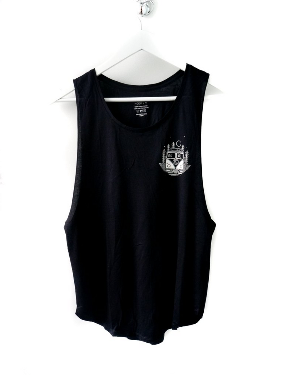 Wander Bus Muscle Tank Top by Karma Collective