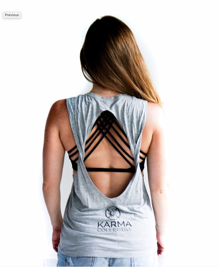 Be the Change tank (open back)
