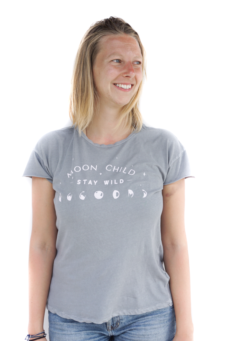 Moon Child Sage Grey T-shirt
