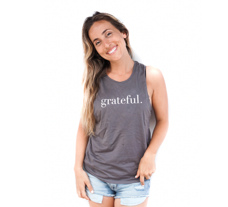Grateful Grey Muscle Tank Top
