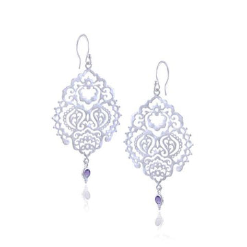 Breath of Life Earrings *amethyst* silver*   by Ananda Soul - Bali Malas