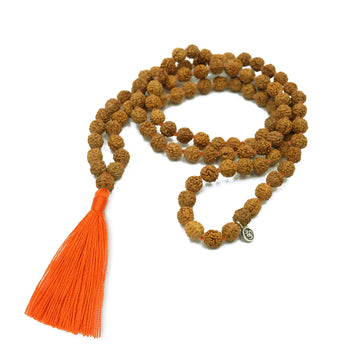 Practice Malas with Orange Colored Tassel