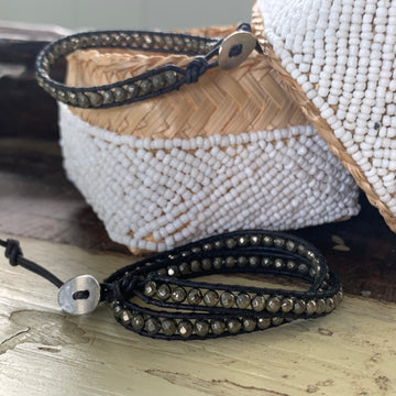 Pyrite Protection Wrap Bracelet