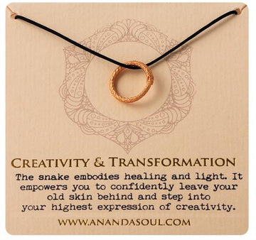 Creativity and Transformation necklace by Ananda Soul - Bali Malas