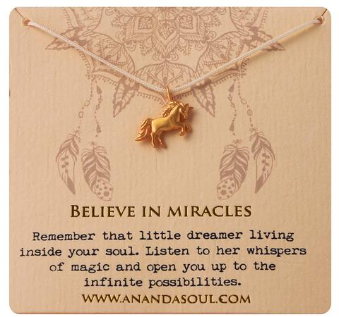 Believe in Miracles necklace by Ananda Soul - Bali Malas