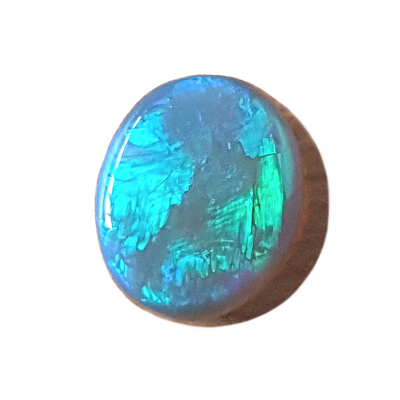 1.46ct Green Oval Dark Crystal Lightning Ridge Opal - Aurora Opal and Gem