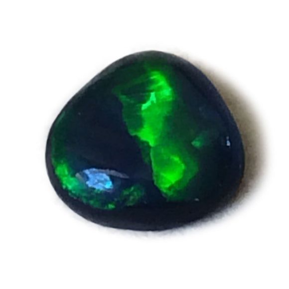 0.59 carat Freeform Bright Gem Green Lightning Ridge Black Opal - Aurora Opal and Gem