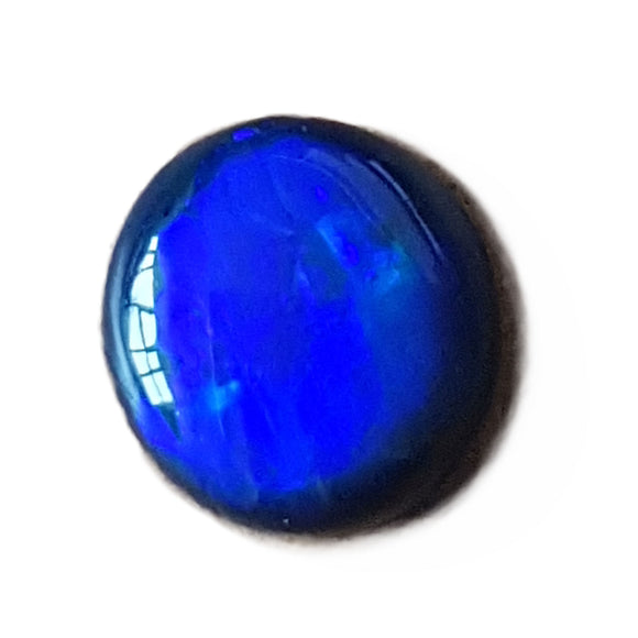 1.42ct Round Royal Blue Directional Lightning Ridge Black Opal - Aurora Opal and Gem