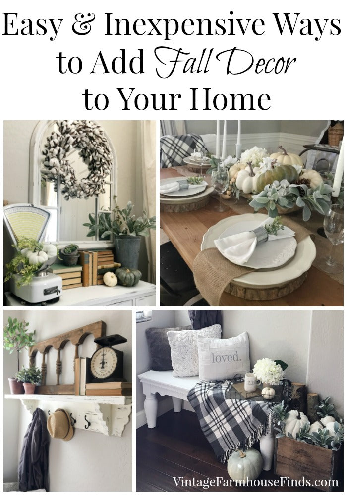 Easy and inexpensive ways to add fall decor to your home Cheap easy ways to decorate your home