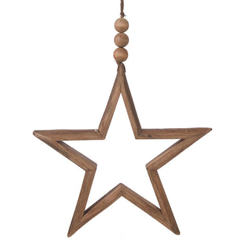 Hanging Wooden Star - Two Sizes