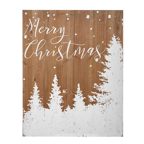 """Merry Christmas"" Wooden Wall Art"