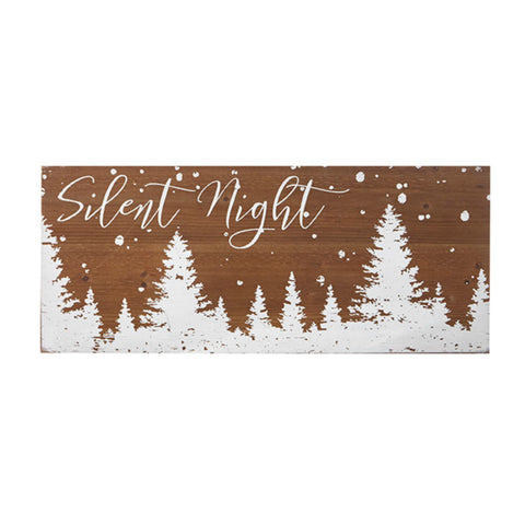 """Silent Night"" Wooden Wall Art"