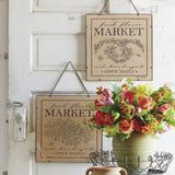 Flower Market Hanging Wall Art Two Styles
