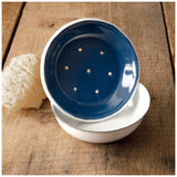 Blue Round Soap Dish