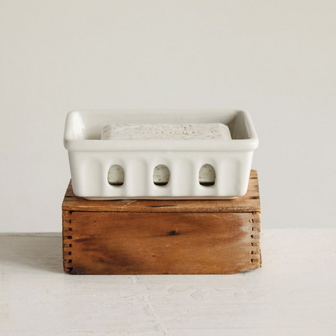 Ceramic Berry Basket Soap Dish