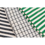 Black, White and Green Tea Towels - Set of Three