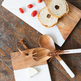"""Branson"" Wood and Marble Cutting Board"