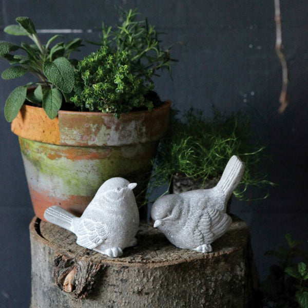 Cement Birds - Set of Two