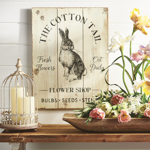Cotton Tail Bunny Wall Art