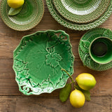 Majolica Inspired Grape Vine Serving Plate