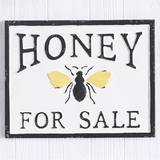 "Embossed Metal ""Honey for Sale"" Sign"