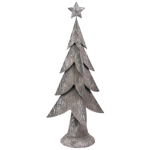 Festive Metal Christmas Tree with Star