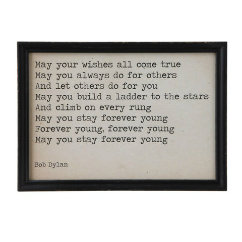 """May Your Wishes All Come True"" Wood Framed Wall Decor"