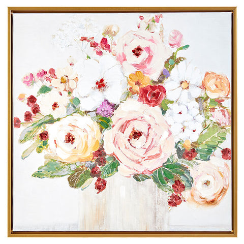 Framed Floral Canvas Wall Art