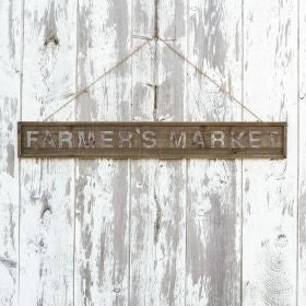 Farmer's Market Wooden Sign