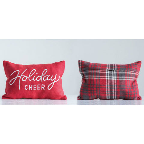 """Holiday Cheer"" Reversible Pillow"